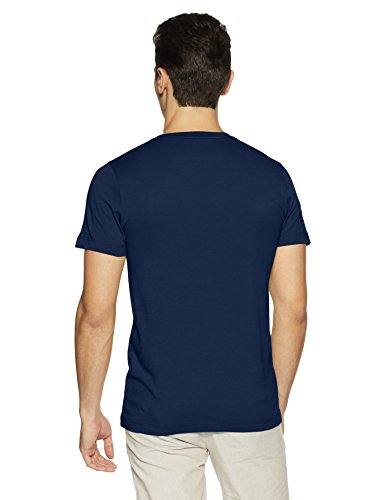 French Connection Men's Printed Slim Fit T-Shirt (561PC-BLACK IRIS-L)
