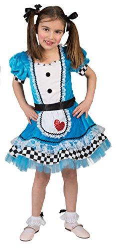 lice im Wunderland Kostüm Mädchen Kinder Alice-Kleid Dienstmädchen Märchen-Kostüm Karneval Kinder-Kostüm Größe 140 ()
