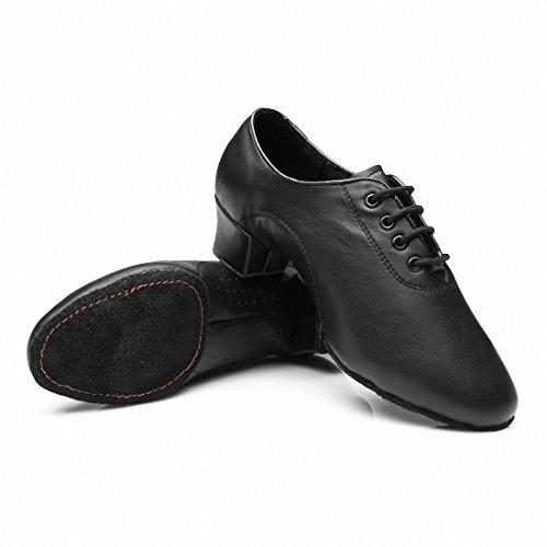 b6a039eaa396 Da uomo Latin Jazz scarpe da ballo fondo morbido nero scarpe ballo moderna  scarpe da ballo, (42.5EU, nero)