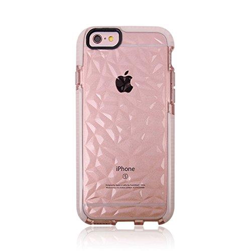 Phone Case & Hülle Für iPhone 6 u. 6s, Diamant-Beschaffenheit TPU Dropproof schützender rückseitiger Abdeckungs-Fall ( Color : Green ) Pink