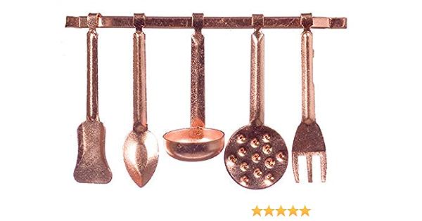 Maison de Poupées Mini Mundus Cuivre Pelle /& Brush Miniature Cuisine Accessoire