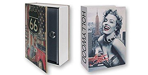 Dakota Hucha diseño Libro Secreto Grande, Caja Fuerte Oculta. Ruta 66 o Hollywood. 24 cm. 1 Unidad