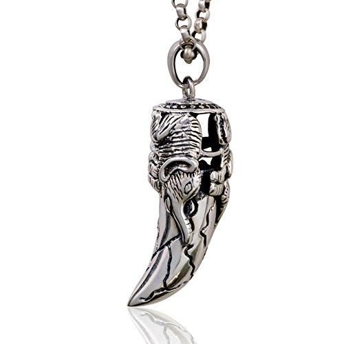 argento collana da uomo/Retrò prepotente pendente fashion/ Accessori collana boy-D