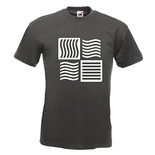 KIWISTAR - The Fifth Element logo T-Shirt in 15 verschiedenen Farben - Herren Funshirt bedruckt Design Sprüche Spruch Motive Oberteil Baumwolle Print Größe S M L XL XXL Graphit