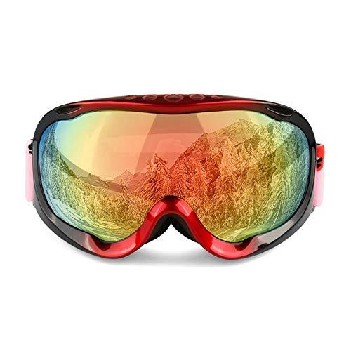 MaxAst Sonnenbrille Motorrad Brille für Herren Schutzbrille Rot+Rot Lens