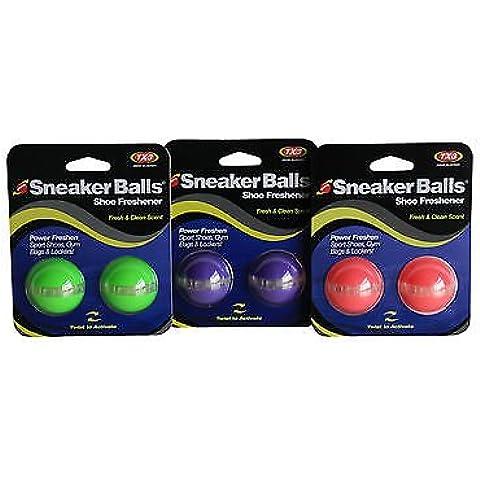 Sneaker Balls - Desodorante en Esferas para Calzado Deportivo, Bolsos, Taquillas, Botas Originales - 1 Par