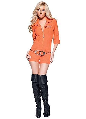 tanamo Dame Karneval Gefangener Damenkostüm mit Kette M (Halloween Gefangener Kostüm)