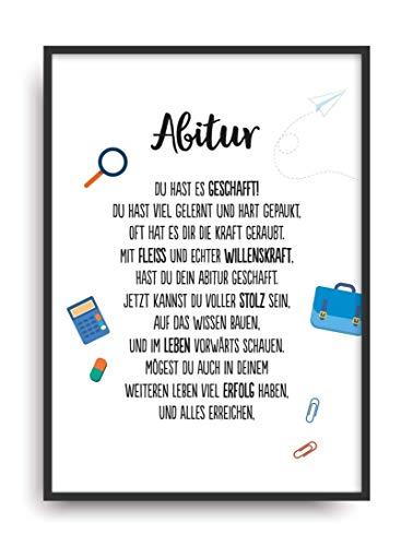 Geschenk Karte ABITUR Kunstdruck ABI 2018 Schule Abschluss Prüfung Bild ohne Rahmen DIN A4