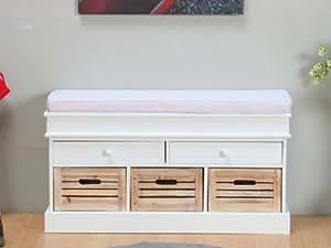 sitzbank mia bank kommode sideboard weiss kissen neu k che haushalt. Black Bedroom Furniture Sets. Home Design Ideas
