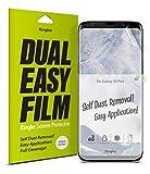 Ringke Protecteur d'écran pour Samsung Galaxy S8 Plus, Dual Easy Full Coverage Haute Résolution [Revêtement Anti-Maculage] Une Application Facile Compatible avec Les Coque pour Samsung Galaxy S8 Plus