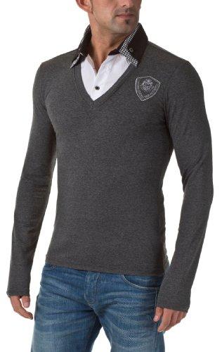 Carisma Herren Sweatshirts Longsleeve, Anthra, XXL (Double-layer-v-ausschnitt-pullover)