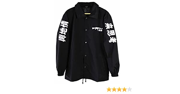 4710232e8ff Fly Coach AK-47 Japanese Coach Jacket Black  Amazon.co.uk  Clothing