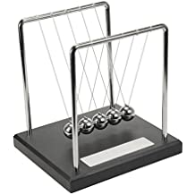 Personalised Newton's Cradle / Kinetic Executive Desk Toy With Engraving Plaque - Engraved - Enter Your Custom Text