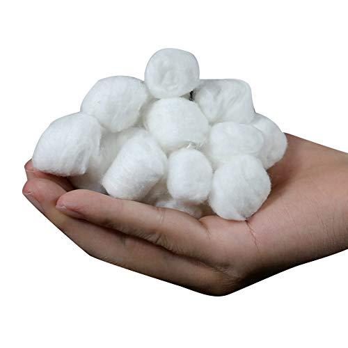 La bola rodante YaptheS desechable absorbente algodón natural Médico desmaquillar esmalte de uñas de limpieza Bolas de algodón multipropósito de 100% puro algodón de bolas Approx.400Pcs esencial de l