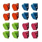 Clip di Metallo Magnetico Multicolore da 16 Pezzi, Clip Magnetica da Muro Nota Lavagna per Lavagna Bianca