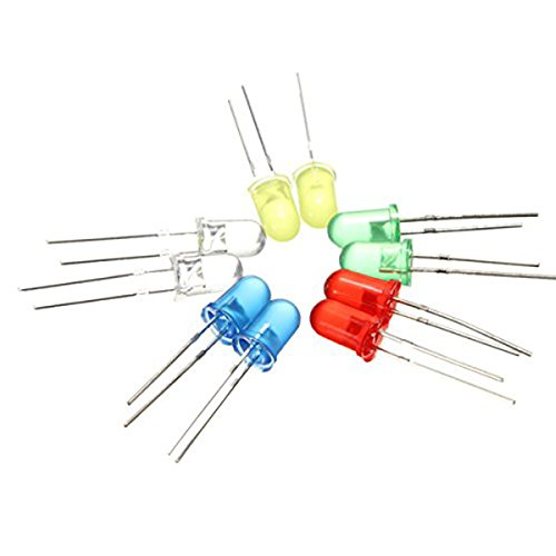Heller ultnice 100Teile 5mm Runde LED-Diode Sender-5Farben -