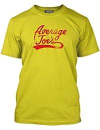 HotScamp Premium Average Joe's Distressed Mens Yellow T-Shirt