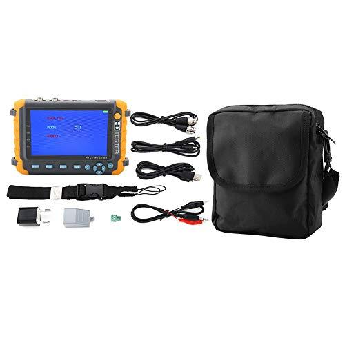 HD Koaxial Tester, 5 Zoll 5MP 4-in-1 TVI AHD CVI CVBS CCTV-Videomonitor, AC 220V CCTV-Überwachungskamera-Tester (EU-Stecker) Cctv-tester