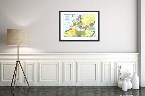 New York Map Company () Karte von Europa, Nordafrika und dem Nahen Osten. and Unusual Reiseposter mit Karte