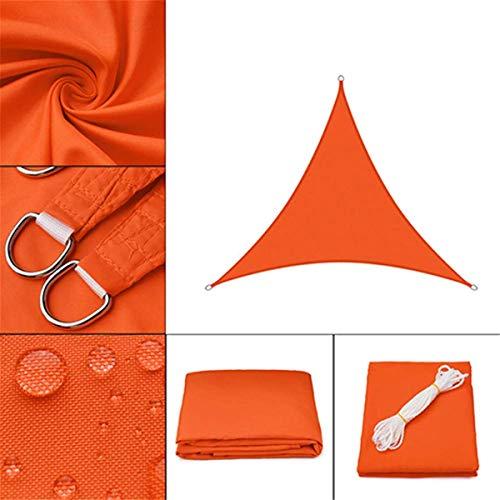 HHJJ Sonnensegel Dreieck Wasserdichter Baldachin Handelsüblicher Hochleistungssegelschirm Tuch UV-Block für Terrassendecks im Freien, Orange,3x4x5m/10x13x16.5ft