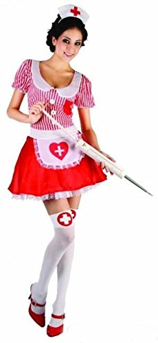 Krankenschwester Wicked Kostüm - Wicked Fun Ladies Women's Candy Stripper