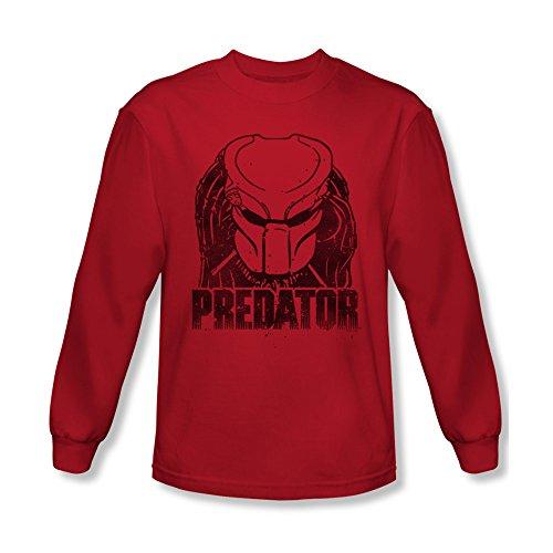 2Bhip Predator 80's SciFi Horror Movie Faded Alien Head Logo Adult L-Sleeve T-Shirt