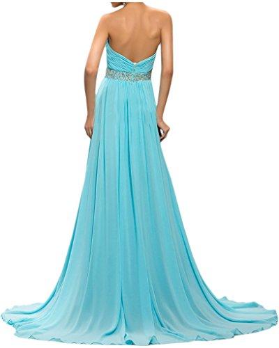 ivyd ressing robe ligne traîne pierres de haute qualité Forme de cœur A Prom Party robe lanf robe du soir Bleu
