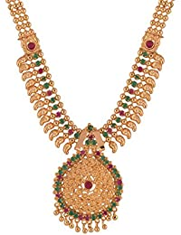 Ganapathy Gems Traditional Kerala Design Multi-Colour Gold Plated Chain Necklace For Women & Girls (10722_GPJ)...