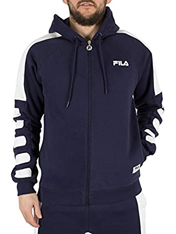 Fila Vintage Men's Rico Zip Logo Hoodie, Blue, Large