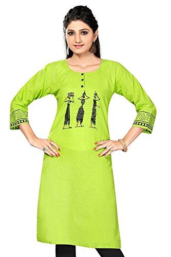 Ashwati Women's Cotton Kurti Beautiful Embroidered Exclusive Collection Of Designer Wear Latest...