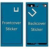 Set de 2 pegatinas/folios adhesivos delantero y trasero resistentes al agua impermeables para Sony Xperia Z L36h MMOBIEL.