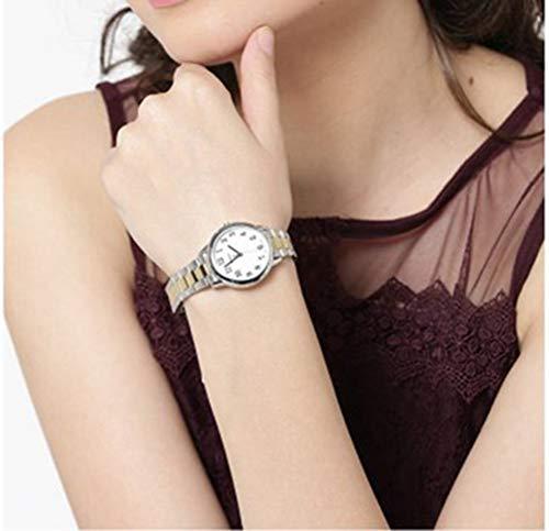 Timex Reloj Analógico para Mujer de Cuarzo con Correa en Acero Inoxidable TW2R23900