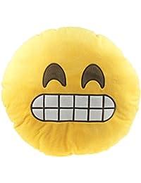 Ukamshop (TM) Car Home Office accesorio Emoji Smiley Naughty cojín almohada juguete regalo, Amarillo, B