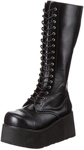 Demonia Demonia Trashville-502 - botas con forro cálido de caña media y botines Hombre, Negro (Schwarz Blk Vegan Leather), 43