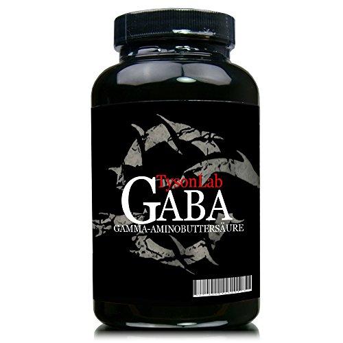 Tysonlab Gaba Kapseln - 150 Kapseln a 750mg Gamma Aminobuttersäure, Dose - Gamma-aminobuttersäure