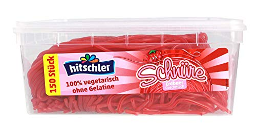 Hitschler Schnüre (150 Stück) 900g (Erdbeere)