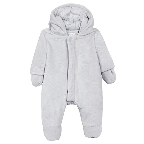 61980a529 Absorba Baby Coverall Snowsuit, (Light Grey), 3-6 (Size: