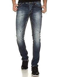 Deeluxe 74 - Jeans Homme Slim Délavé Avec Poches