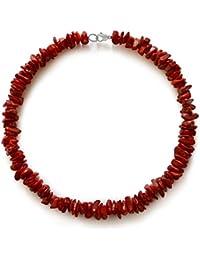 Koralle Halskette, natürlich, rot, Chips, 10x7mm-15x8x4mm