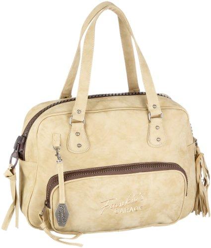 Frankie's Garage Ladies Business Bag S210484-060, Borsa donna - Beige, 40x28x11 cm (L x A x P)