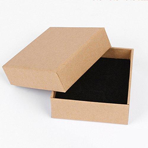Coskiss 20pcs Piazza di carta Forma Gioca Box 10cm * 10cm * 3,5 centimetri (3.94 '' * 3.94 '' * 1.38 '') per accessori in legno / silicone fai da te teether Crafts (colore di legno 20pcs)