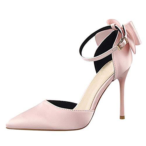 Minetom Sandals Mujer Zapatos Tacón Alto Fiesta Moda Satinado Prom Verano Sandalias De Vestir Hebilla...