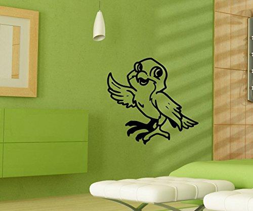 Wandtattoo Vogel Spatz lustig sticker Tattoo Tier Tür Auto Aufkleber Wohnzimmer Schlafzimmer Kinderzimmer 1B208