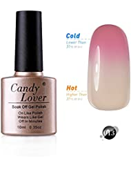 Candy Lover 10mL Soak Off LED Gel Nagellack Thermo Color Changing Gel Chameleon Shellac Polish Nagellack Farbe #013