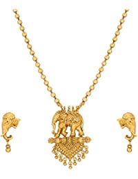 The Luxor Gold Plated Bahubali Temple Jewellery Set For Women (NK-2092)