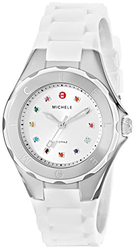 MICHELE Women's MWW12P000001 Jellybean Analog Display Analog Quartz White Watch