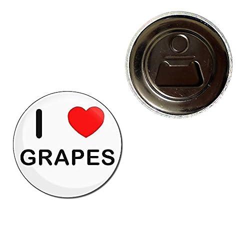 I Love Grapes - 55mm aimant décapsuleur