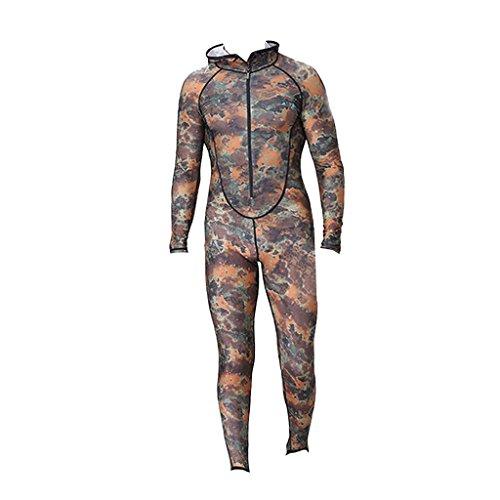 Anzüge Ganzkörper Spandex (MagiDeal Männer Tarnung/ Camouflage Ganzkörper Tauchanzug Surfanzug Schnorchelanzug -)