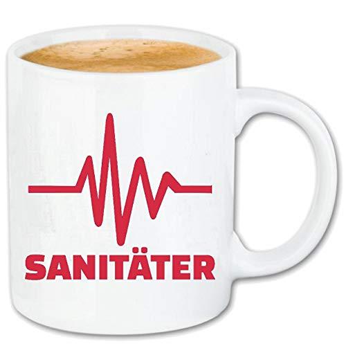 Reifen-Markt Kaffeetasse HERZSCHLAG SANITÄTER - SANITÄTERIN - ERSTHELFER - KRANKENWAGEN -...
