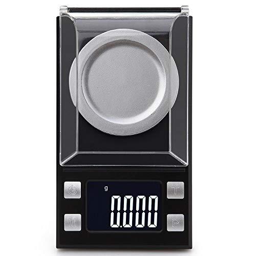 LIFEAIDE Digital Pocket Scales Milligramm Skala 100 X 0,001 G Nachladen Schmuck Skala Digital Gewicht Mit Kalibrierung Gewichte Pinzette Und Wiegepfannen